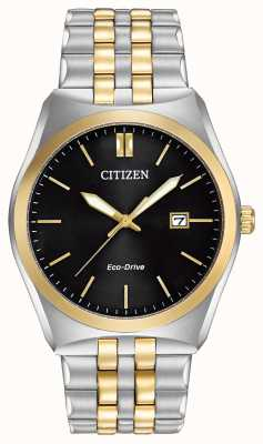Citizen Men's Corso Eco-Drive Stainless-steel & Gold IP Black Dial Watch BM7334-58E
