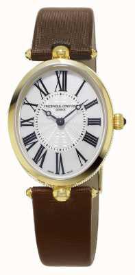 Frederique Constant Classics Art Deco Brown Leather Strap FC-200MPW2V5