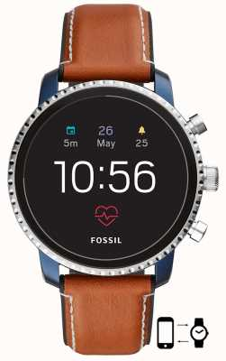 Fossil Connected Q Explorist HR Smart Watch  Brown Leather Strap FTW4016