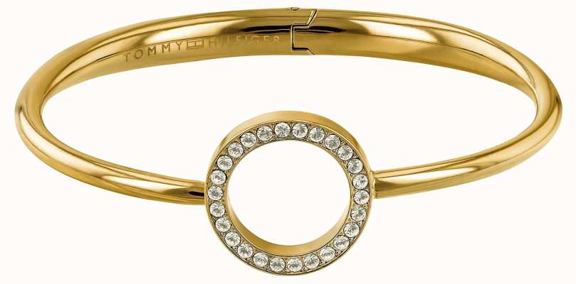 Tommy Hilfiger Open Circle Gold Tone Bangle 2780065