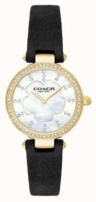 Coach Womens Modern Luxury Black Leather Strap Mother Of Pearl 14503103