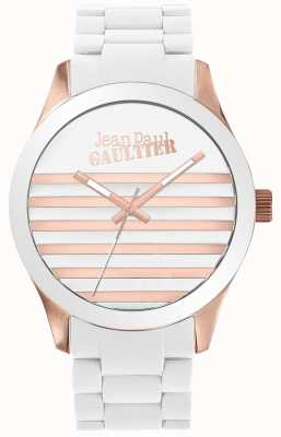Jean Paul Gaultier Enfants Terribles Unisex White And Rose Gold Rubber Watch JP8501126
