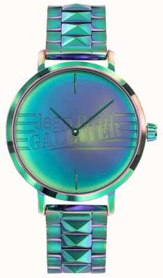 Jean Paul Gaultier Bad Girl Womens Green Rainbow Effect Metal Watch JP8505705