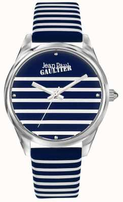 Jean Paul Gaultier Navy Womens Stripe Watch Leather Strap JP8502414