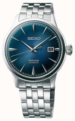 Seiko Presage Automatic Stainless Steel Bracelet Blue Dial SRPB41J1