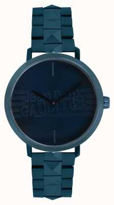 Jean Paul Gaultier Womens Bad Girl Blue Tone Bracelet Watch 8505702