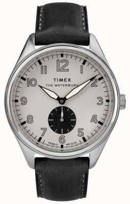 Timex Mens Waterbury Traditional Grey Subdial Black Leather TW2R88900