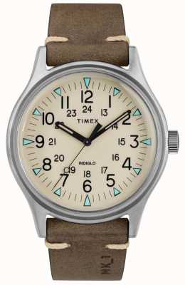 Timex Mens MK1 SST Chrono 40mm Case Brown Leather Strap TW2R96800