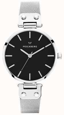 Mockberg Womens Elise Noir Stainless Steel Mesh MO1604