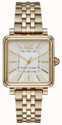 Marc Jacobs Womens Vic Watch Gold Tone Bracelet Square Dial MJ3462