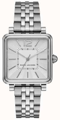 Marc Jacobs Womens Vic Watch Silver Tone Bracelet Square Dial MJ3461