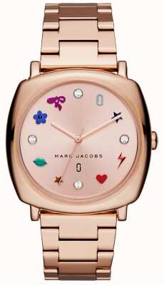 Marc Jacobs Womens Mandy Watch Rose Gold Tone MJ3550