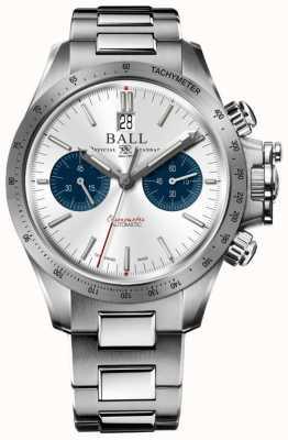 Ball Watch Company Engineer Hydrocarbon Racer Chronograph 42mm Silver Dial CM2198C-S2CJ-SL