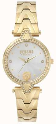 Versus Versace Womens V Versus Stone Set Gold Dial Gold PVD Bracelet SPCI350017