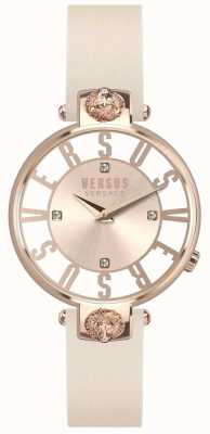 Versus Versace Womens Kristenhof Rose Gold Dial Pink Leather Strap SP49030018