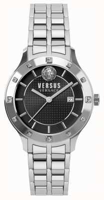 Versus Versace Womens Brackenfell Black Dial Stainless Steel Bracelet SP46010018