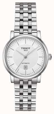 Tissot Womens Carson Automatic Stainless Steel Silver Dial T1222071103100
