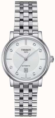 Tissot Womens Carson Automatic Stainless Steel Crystal Set T1222071103600