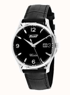 Tissot Mens Visodate Heritage Quartz Black Leather Black Dial T1184101605700