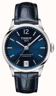Tissot Chemin Des Tourelles Blue Leather Strap Blue Dial T0992071604700