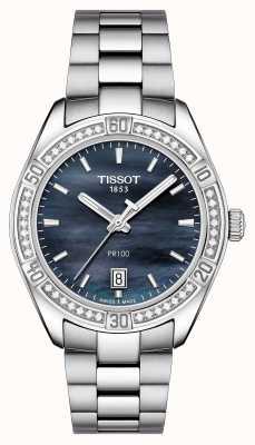 Tissot Womens PR 100 Sport Chic 36mm Stainless Steel Blue T1019106112100
