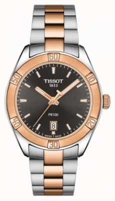 Tissot Womens PR 100 Sport Chic 36mm Two Tone Black Dial T1019102206100