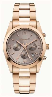 Ingersoll Womens The Universal Chronograph Rose Gold PVD Plated I05402