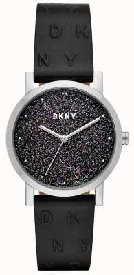 DKNY DKNY Ladies Soho Watch Black Leather Strap NY2775