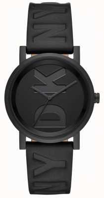 DKNY Ladies Soho Watch Black Leather Strap NY2783
