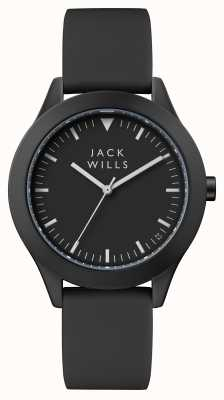 Jack Wills Mens Union Black Dial Black Silicone Strap JW009BKBK