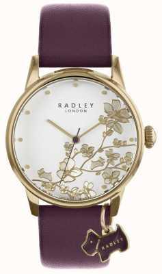 Radley Ladies Watch Purple Floral Leather Strap RY2688