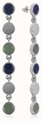 Radley Jewellery Enamel Drop Earrings Silver RYJ1045
