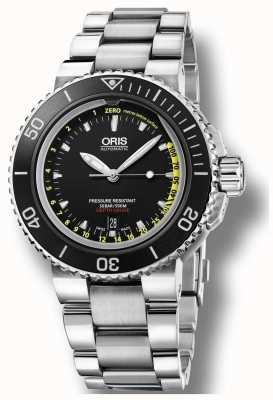 Oris Aquis Depth Gauge Set Automatic Stainless Steel Black Dial 01 733 7675 4154-SET MB