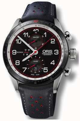 Oris Colobra Limited Edition Automatic Chronograph Black Leather 01 774 7661 4484-SET
