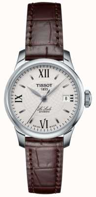 Tissot Ladies Le Locle Slim Automatic Leather Watch T41111377