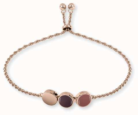 Radley Jewellery Rose Gold Plated Silver Enamel Drop Bracelet RYJ3028