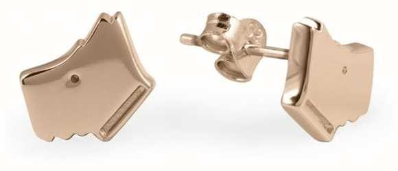 Radley Jewellery 18ct Rose Gold Plated Silver Dog Head Earrings RYJ1034