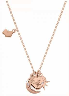 Radley Jewellery Rose Gold Heart, Moon And Star Charm Necklace RYJ2044