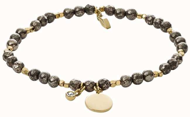 Fossil Vintage Iconic Pyrite Bead Bracelet JA6984710