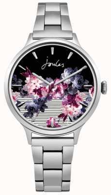 Joules Womens Flora Stainless Steel Bracelet Floral Dial JSL002SM