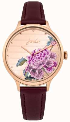 Joules Ladies Joules Purple Leather Strap Multi-colour Dial JSL002VRG