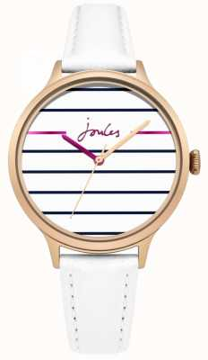 Joules Womens Joules Marina White Leather Strap White Dial JSL013WRG