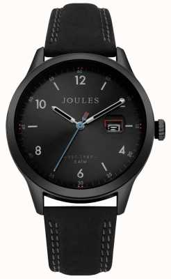 Joules Mens Sanderson Black Leather Strap Black Dial JSG004BB