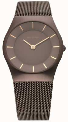 Bering Bering Watch Classic Ladies Stainless Steal Mesh Brown 11930-105