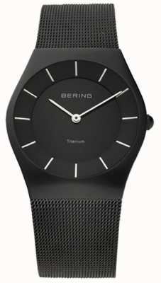 Bering Classic Mens Stainless Steal Mesh Black 11935-222