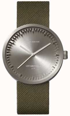 Leff Amsterdam Tube Watch D38 Cordura Steel case Green Strap LT71004