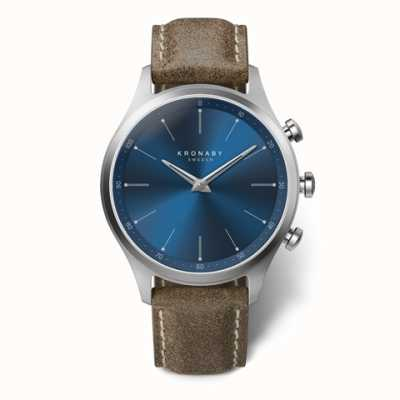 Kronaby 41mm SEKEL Blue Dial Truffle Leather Strap A1000-3759 S3759/1