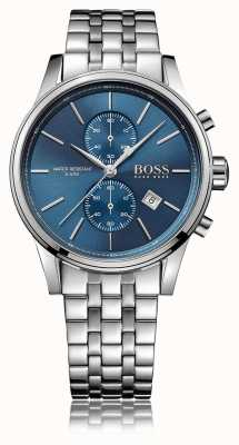 Hugo Boss Mens Jet Chrono Stainless Steel Bracelet Blue Dial 1513384