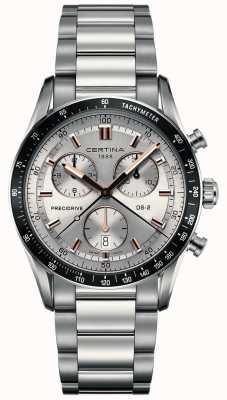 Certina Mens DS-2 | Precidrive Chronograph | Silver Dial | C0244471103101