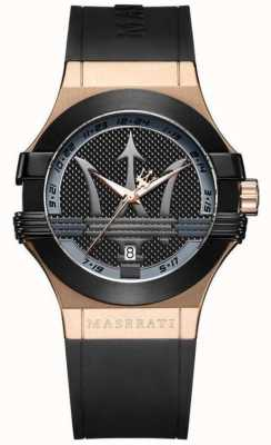 Maserati Mens Potenza Analogue | Black Dial | Black Leather Strap R8851108002